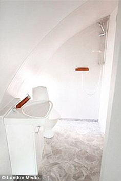 Ensuite Bathroom Facilities 1920s+bathroom+sloped+ceiling | attic bathrooms with sloped