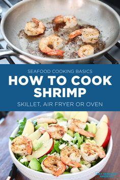 Shrimp Recipes, Salad Recipes, Seafood Pasta, How To Cook Shrimp, Skillet, Main Dishes, Oven, Good Food, Salt