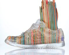 HAROSHI   Feet Sculpture with Transparent Skate Shoes