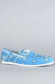 The Bandana Dock Sneaker in Blue by Study