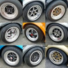 JDM rims at the Neo Classics show. One of the reasons we love vintage Japanese cars so much. #ssr #rswatanabe #equip #hayashi #advan #technoracing #speedstarracing #hayashiracing #wheels #rims #jdm #watanabe