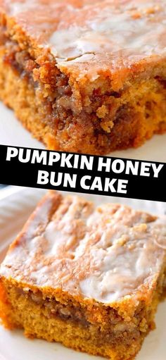 Fall Desserts, Just Desserts, Delicious Desserts, Dessert Recipes, Yummy Food, Desserts With Honey, Recipes Dinner, Pumpkin Cake Recipes, Pumpkin Dessert