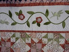 holly and ivy border applique for quilt - Google Search