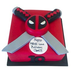 Deadpool Cake - £59 - Buy Online, Free UK Delivery