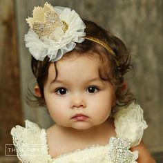 "Herlook reigns supreme when she wears our ""Little Queen"" Crown Headband…"
