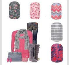 Fun Jamberry nail wrap combos! Click the image to order! B3G1 PM me on Facebook for a FREE sample! Sharron Chatham - Jamberry Independent Consultant