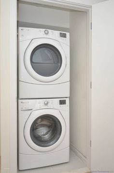 Can you wire a closet for a washer and dryer? Answer: Most apartment ...