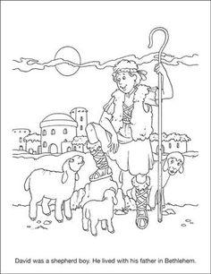 coloring page david as boy | David The Shepherd Boy Coloring Page http://trifirekids.org/activity ...