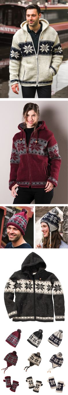 Best selling snowflake jacket with fleece lining, longer length, in 3 great colour ways. Hand made in Nepal, fairly traded by Namaste.