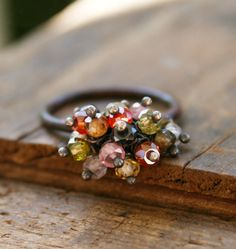 Oxidized Copper ring with natural zircon by jennreeseSEVEN, $42.00 #ring #copper #charm #jewelry