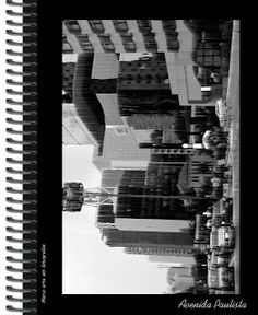 Caderno Universitário com Arte fotográfica da deliciosa Avenida Paulista. Criação gráfica Marco Machado.