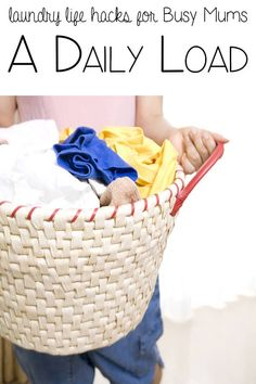 A Daily Load - laundry life hacks for busy mums, keeping on top of the laundry a method that really works Useful Life Hacks, Life Hacks Diy Cleaning Products, Cleaning Hacks, Cleaning Checklist, Lava, Organised Mum, Household Chores, Household Tips, Housekeeping Tips, Making Life Easier