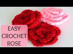DIY Learn How to Crochet a Beginner Easy Flower - Rose Rosas Bouquet Flowers Leaf Leaves Stem - YouTube