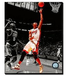 Chris Bosh Canvas Framed Over With 2 Inches Stretcher Bars-Ready To Hang- Awesome & Beautiful