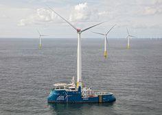 The Offshore wind service vessel Wind La Cour. Photo credit: Damen