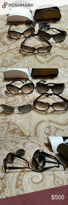 d1a3478ce8 2 DESIGNER SUNGLASSES BUNDLE Gucci - Sold separately not included.    1  Rayban