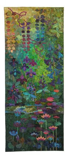 Reflections of Summer by Jenny Hearn from Johannesburg, Gauteng, South Africa. This quilt is part of the Seasonal Palette Exhibit.  I've only seen it as a photo in the Seasonal Palette book my daughter got me for Christmas.  I just keep staring at it.  There's also a detail photo in there that's just amazing!