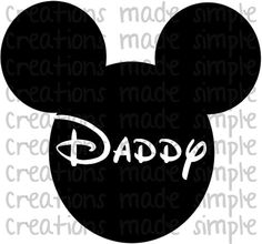 Mickey Mouse Inspired Daddy Transfer by CreationsMadeSimple, $1.99