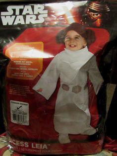Star Wars Princess Leia Costume Robe Belt headpiece Toddler 24 Months New  sc 1 st  Pinterest & Star Wars OBI WAN KENOBI Costume Infant 6-12 Months Romper with ...