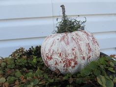 A personal favorite from my Etsy shop https://www.etsy.com/listing/107915626/crackled-pumpkin-decoration