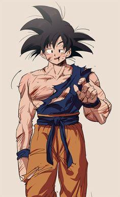 He's so adorable, Goku Dbz, Goku And Vegeta, Son Goku, Dragon Ball Gt, Milk Y Goku, Akira, Goku Pics, Art Tumblr, Univers Dc