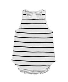 Brighton Tank in Ivory/Black Stripe