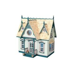 Greenleaf Orchid Dollhouse Kit - 1 Inch Scale - Collector Dollhouse... ($60) ❤ liked on Polyvore featuring blue, fillers, backgrounds, item vari and oggetti