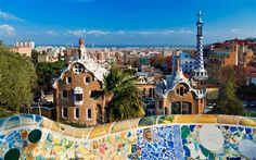 Travel Inspiration The Coolest Things to Do In Parks Around the World : See the work of a Modernist master Parc Guell, Barcelona, Spain Most Beautiful Cities, Beautiful Buildings, Barceloneta Beach, Best Cities In Europe, Magic Places, Parc Guell, Spain And Portugal, Spain Travel, Tenerife