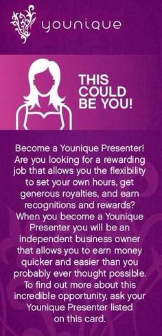 When was the last time a corporate company paid you to wear their makeup? Yep I didn't think so  Join Younique today and get paid to enjoy and promote their products!!  Have fun taking selfies  No I home parties it's all done in the comfort of your own home, online through social media!!  Youniqueproducts.com/NadiaJayne   Click on the link to join today and learn more about what Younique can offer.