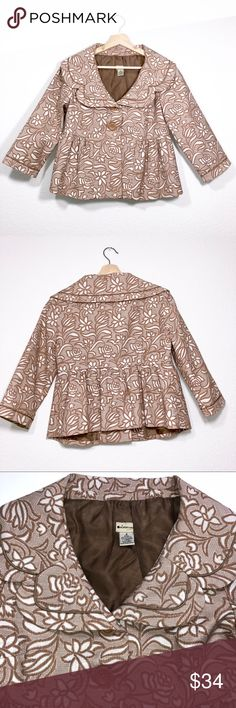 Anthropologie Elevenses Floral Peplum Jacket ✔️Double Front Button ✔️Peplum Cut ✔️Lined ✔️Excellent Used Condition Anthropologie Jackets & Coats