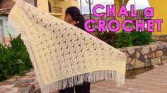 Chal triangular tejido a crochet paso a paso