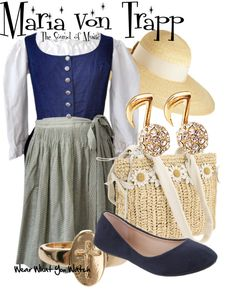 Inspired by Julie Andrews as Maria von Trapp in 1965's The Sound of Music.