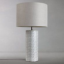 Buy john lewis vedika ceramic mosaic stamped table lamp pink online buy john lewis minna large ceramic cylinder table lamp grey from our desk table lamps range at john lewis free delivery on orders over mozeypictures Gallery