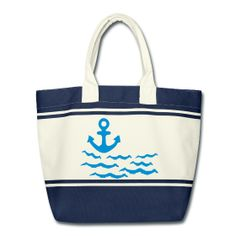Anchor marine look Shopping Bag Shopping Bag Shopping bag with solid handles and colour-contrasting stripes Dimensions: 53 x 36 x 19 cm