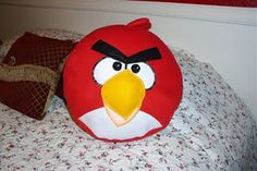 How to make an angry bird pillow