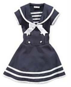 sailor clothing for girls | Bonnie Jean Little Girl Sailor Dress. Available at Macy's. Sizes 2-6x ...