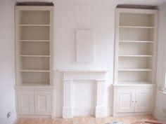 units in chimney breast alcoves Room, Room Shelves, Living Room Shelves, Built In Cupboards, Chimney Decor, Alcove Shelving, Lounge Room, Shelving Design, Shelving
