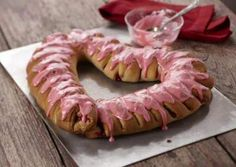 Raspberry Filled Coffee Cake Heart | Recipe Goldmine Recipes