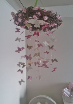 SALE!! Butterfly Floral Garden Mobile (Usually 60 dollars)