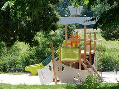 Piratenschiff Park, Fair Grounds, Fun, Stone Path, Children Playground, Paving Stones, Beautiful Homes, Deck Gazebo, Parks