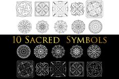 10 Sacred symbols by Aleksandra Slowik on @creativemarket