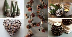 Artesanato DIY de cones: rápido e bonito Christmas Diy, Merry Christmas, Christmas Decorations, Xmas, Table Decorations, Holiday, Snowflakes, Presents, Crafty