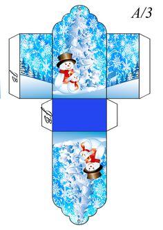 Small Snowman Box