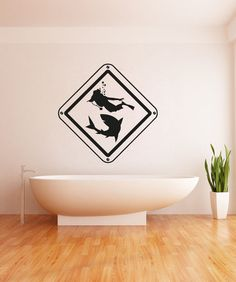 Vinyl Wall Decal Sticker Scuba Diver and Octopus #OS_AA746   Stickerbrand wall art decals, wall graphics and wall murals.