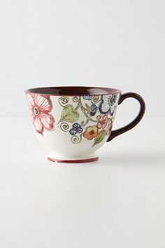 teacup Pretty Mugs, Cute Mugs, Pottery Painting, Ceramic Painting, Ceramic Cups, Ceramic Pottery, Coffee Cups, Tea Cups, Teller