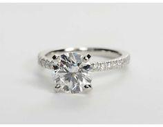 2.1 Carat Diamond Petite Pavé Diamond Engagement Ring   Recently Purchased   Blue Nile