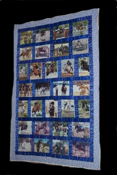 pictures and ribbon quilt Ribbon Projects, Ribbon Crafts, Horse Rooms, Show Ribbon Display, Swim Ribbons, Football Quilt, Horse Show Ribbons, Ribbon Quilt, Ribbon Organization