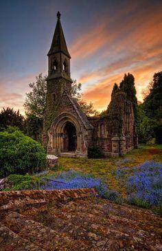 Sunset, Overton, North Wales, UK
