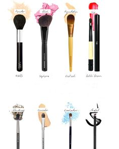 makeup tools recognition; because I don't know what tool to use lol