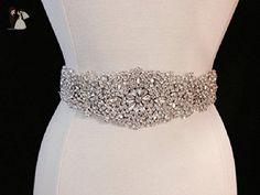 Bridal Sash - Wedding Dress Sash Belt - Rhinestone and Pearl Ivory Wedding Sash - Ivory Rhinestone Bridal Sash - Bridal fashion accessories (*Amazon Partner-Link)